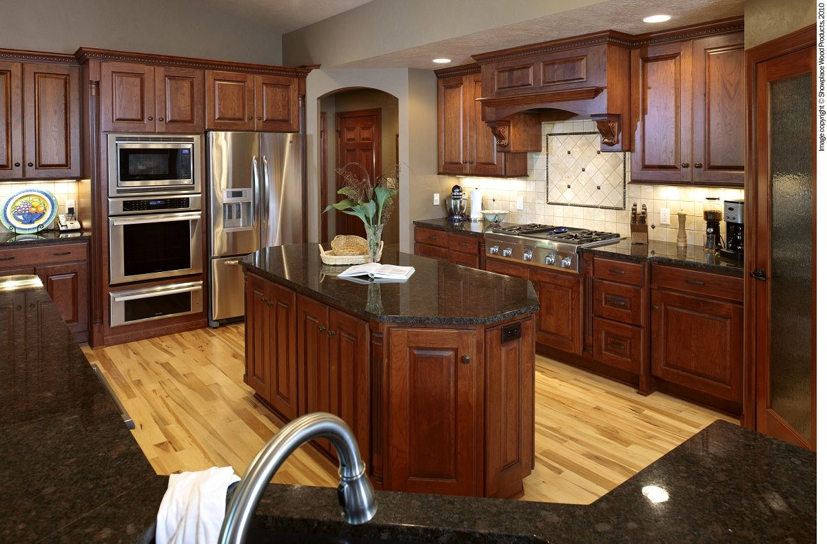 cabinets and floors | Cherry Kitchen Cabinets | Cronen ...