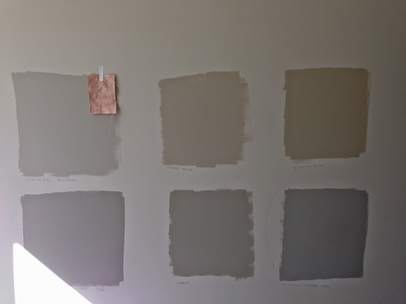 The Samples We Tested Top Revere Pewter, Grant Beige, Bleeker
