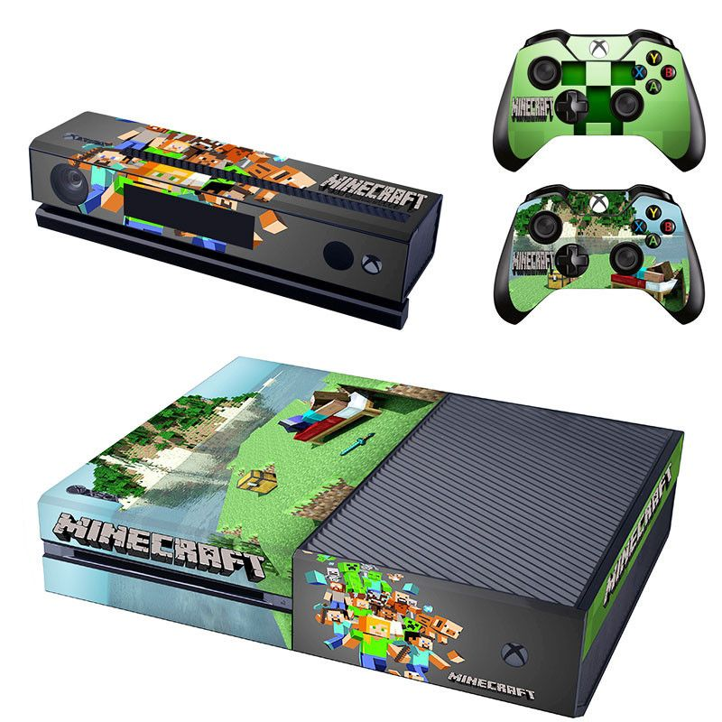 Foyer Console Xbox : Minecraft xbox one skin decal for console and controllers