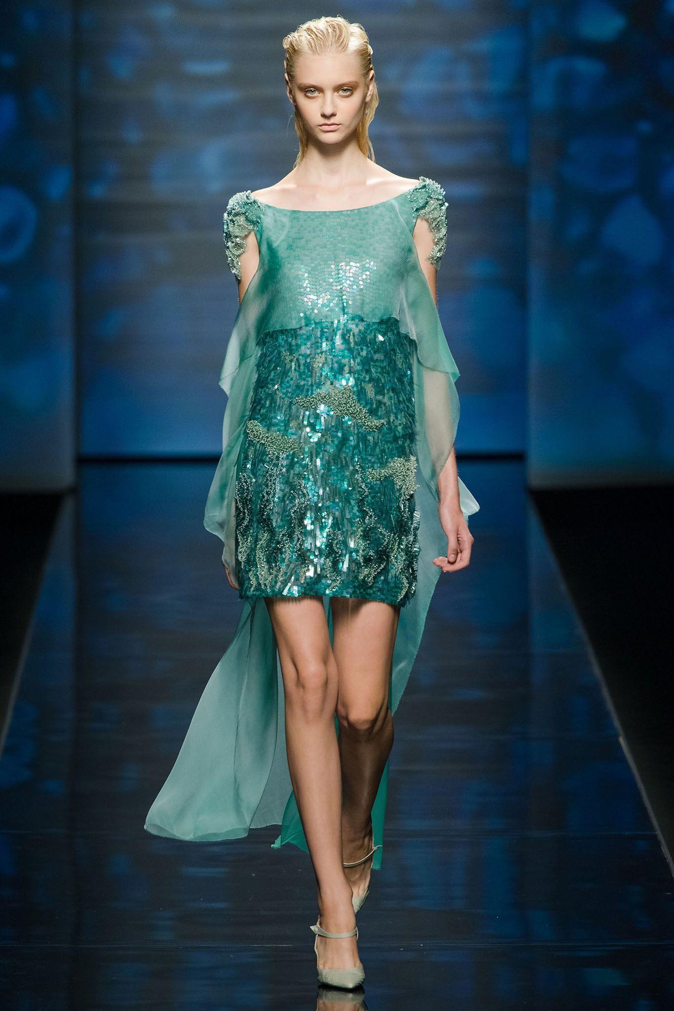 Alberta Ferretti Spring 2013 Ready-to-Wear Fashion Show - Nastya Kusakina