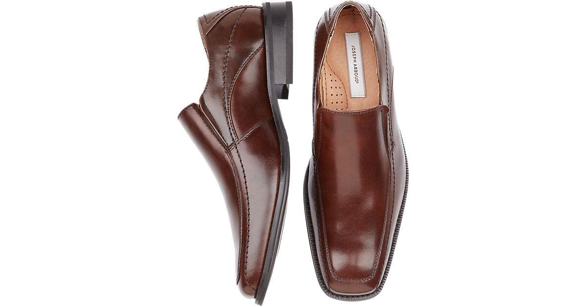 5704525487dbc Joseph Abboud Brown Slip-On Shoes from MensWearhouse.  MensWearhouse