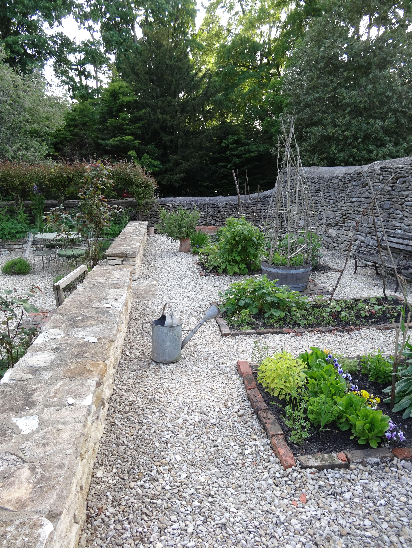 Beth's back vegetable garden just starting in early Spring