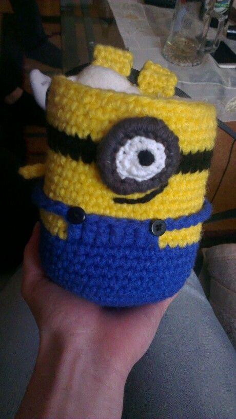 Minion häkeln, crochet chalkbag | Crochet | Pinterest | Crochet