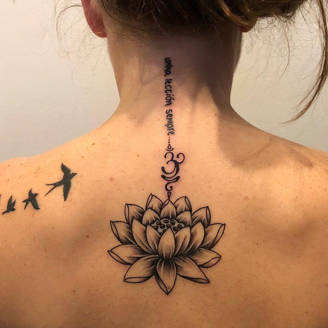Tattoo Remover Om Lotus Flower Tattoo And Retouch Of Birds Tattoo Done By Vinnie Allartnotwar Open Spots For V Mother Tattoos Tattoo Flash Sheet P Tattoo