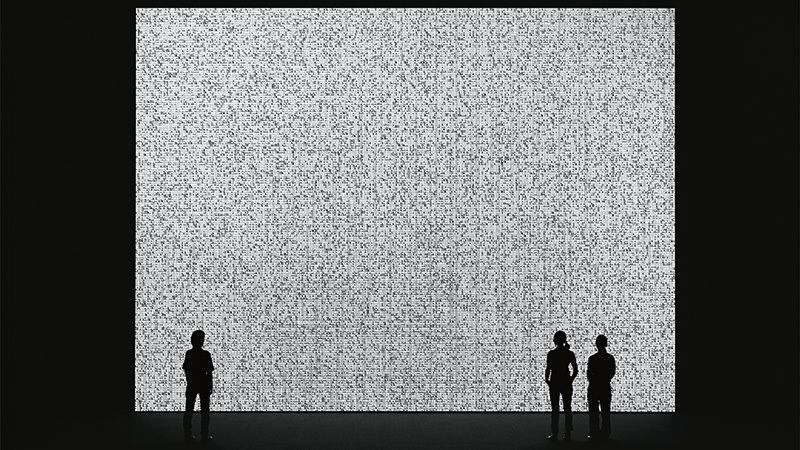 Ryoji Ikeda - Datamatics - data.tron    http://www.cabinet-curiosites.fr/ryoji-ikeda/
