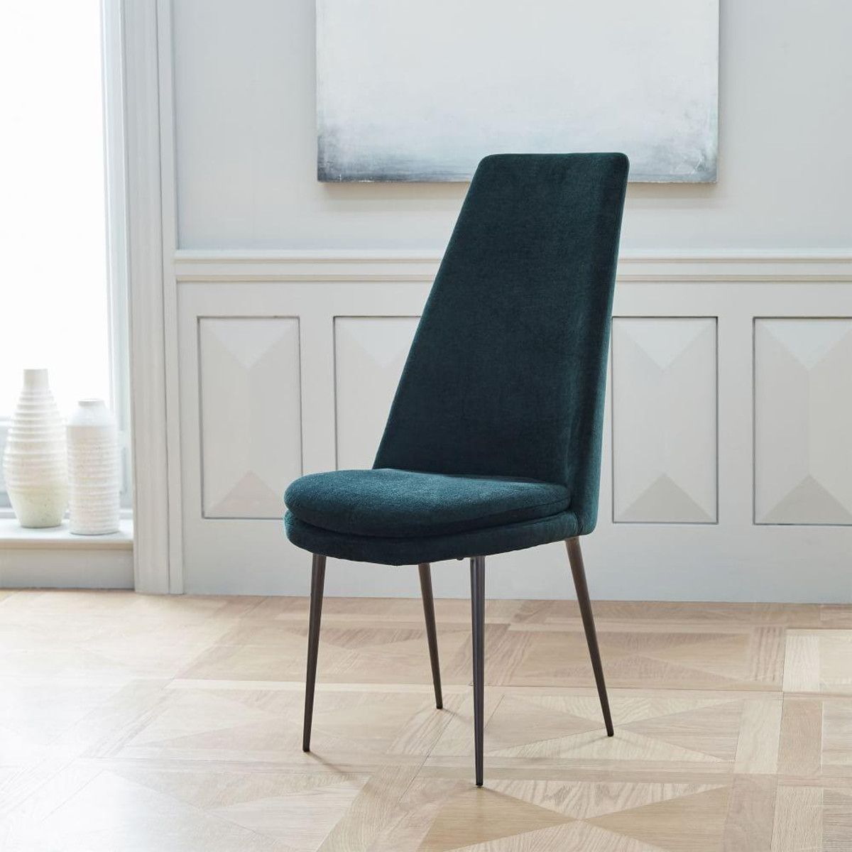 High Back Grey Velvet Dining Chairs Cheap Chair Covers For Sale Uk Finley