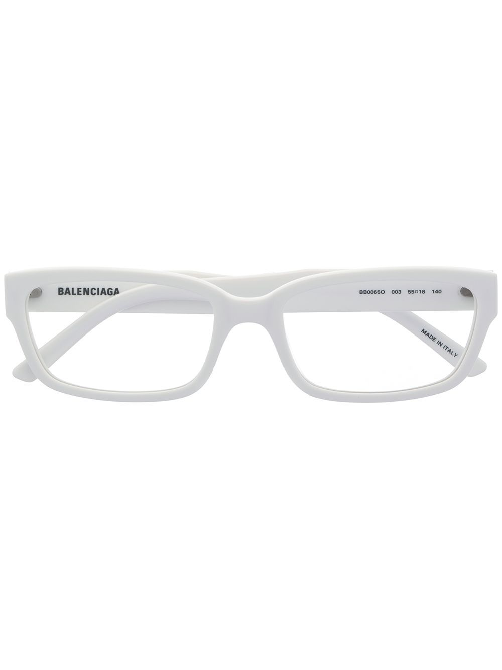 Speccy is the new sexy. And these white rectangular frame glasses from Balenciaga Eyewear are here to prove it. Can you handle it? Featuring rectangular frames and a brand logo on external arm. This item comes with a protective case.
