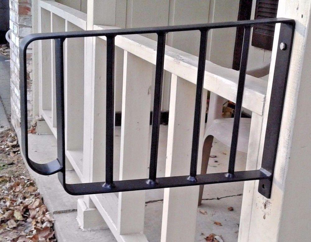 Best Wrought Iron Metal 1 2 Step Handrail Custom Made Home 400 x 300