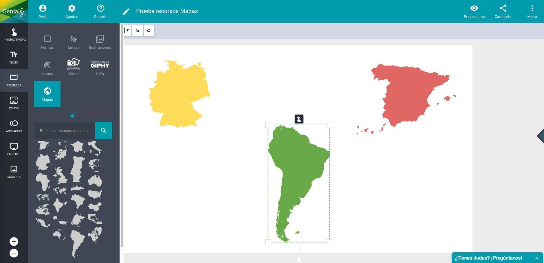 De Nuevo Estamos Por Aquí Con Algunas De Las Novedades De Genially Hoy Os Vamos A Contar Cómo Crear Un Mapa Interactivo De Una Forma Muy Sencilla