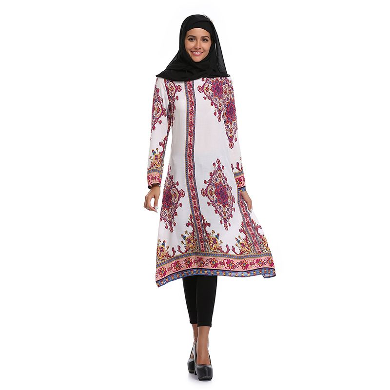 849060fe45 National style Abaya clothes Turkey Muslim Women Dress Plus size Dubai  Islamic printed Clothing Robe Musulmane Vestidos Longos  Abaya style