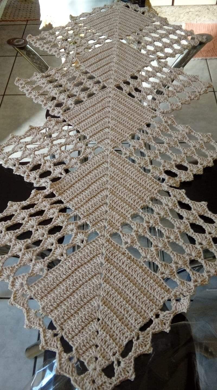 Trabajo Com Imagens Toalhas De Prato De Croche Caminho De