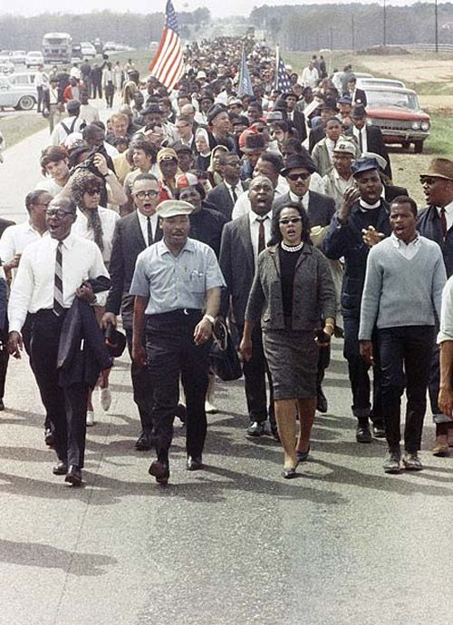Marching with Dr. Martin Luther King & Coretta Scott King