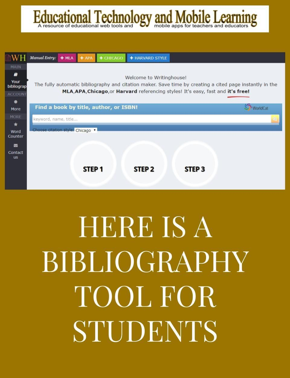 Writinghouse Is An Excellent Free Bibliography And Citation