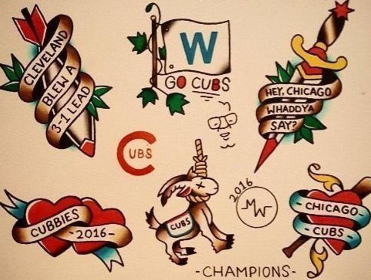 Chicago tattoo artist trolls Indians after World Series loss   theScore.com