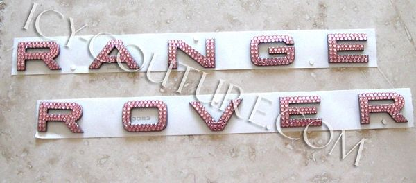 Crystal RANGE ROVER letters - Pink, Gold, Black - Any Color #pinkrangerovers