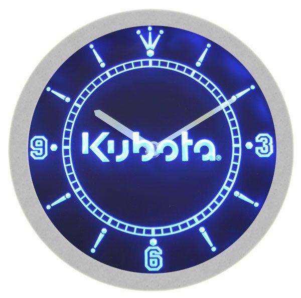 Kubota Tractor Neon Sign Bar Wall Clock Neon Wall Clocks