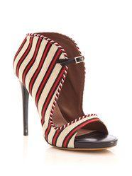 Tabitha Simmons Linen Silk Stripe sandals