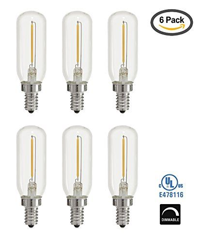 Light Blue 1watt 15w Led T6 Tubular Filament 120v Candelabra E12 Base Light Bulb Dimmable Ullisted 6pack Salt Lamps Led Bulb Bulb