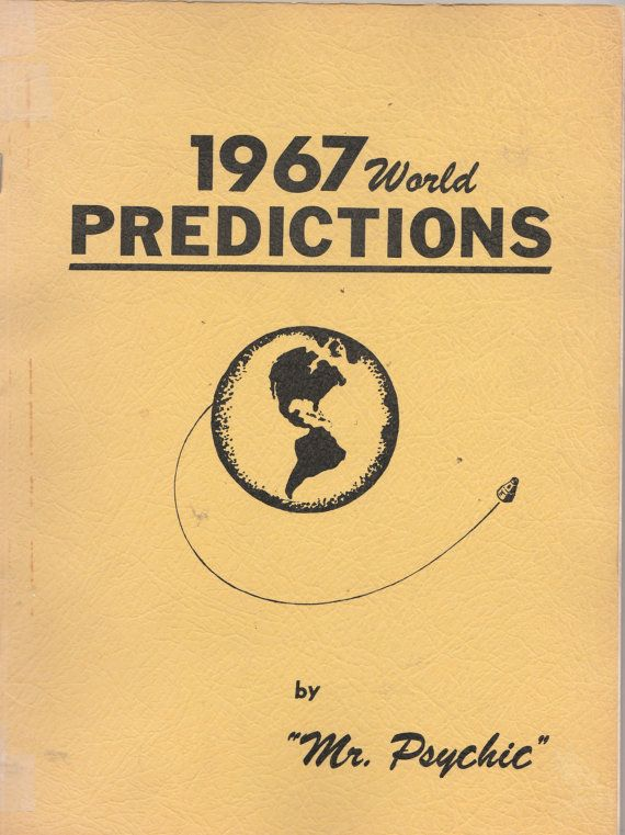 Vintage 1967 World Predictions Mr. Psychic by ShopHereVintage