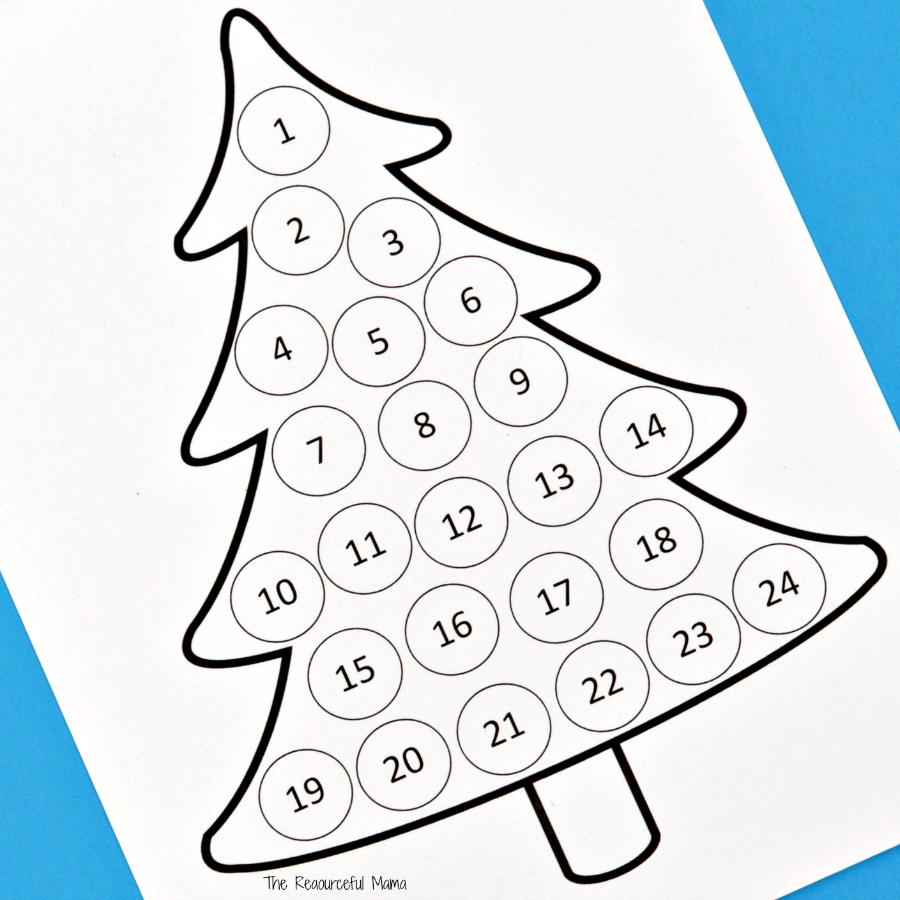 Christmas Countdown Advent Calendar Advent Calendars For Kids Christmas Tree Printable Calendar Craft [ 900 x 900 Pixel ]