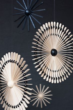 Sternanhänger aus Holzstäbchen