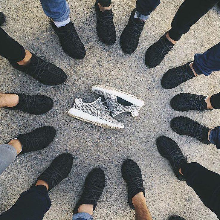2016 Novo Adidas Yeezy 350 Kanye West Boost Homens Sapatos Branco Preto