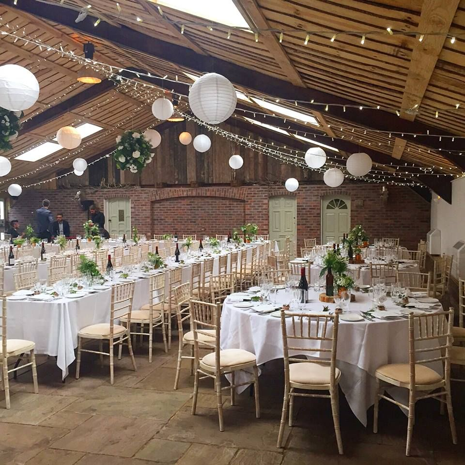Paper Lanterns Wedding Decoration Ideas: Fairy Lights And Paper Lanterns At Owen House Wedding Barn