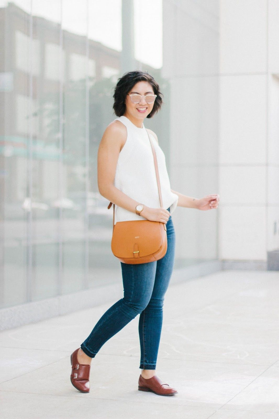 e758ef536a04 Reasons why transitional outfits like wearing sleeveless sweaters are great  for Fall    Why wearing mirrored sunglasses is the best    The best time to  wear ...