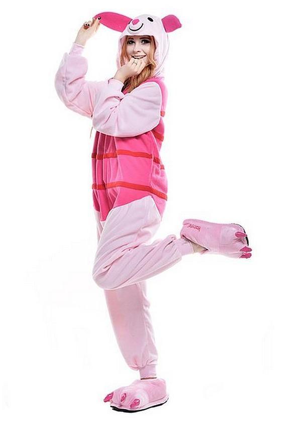 fb363677b282 Winnie The Poo  Piglet Onesie -  Animal  Onesies  Pink