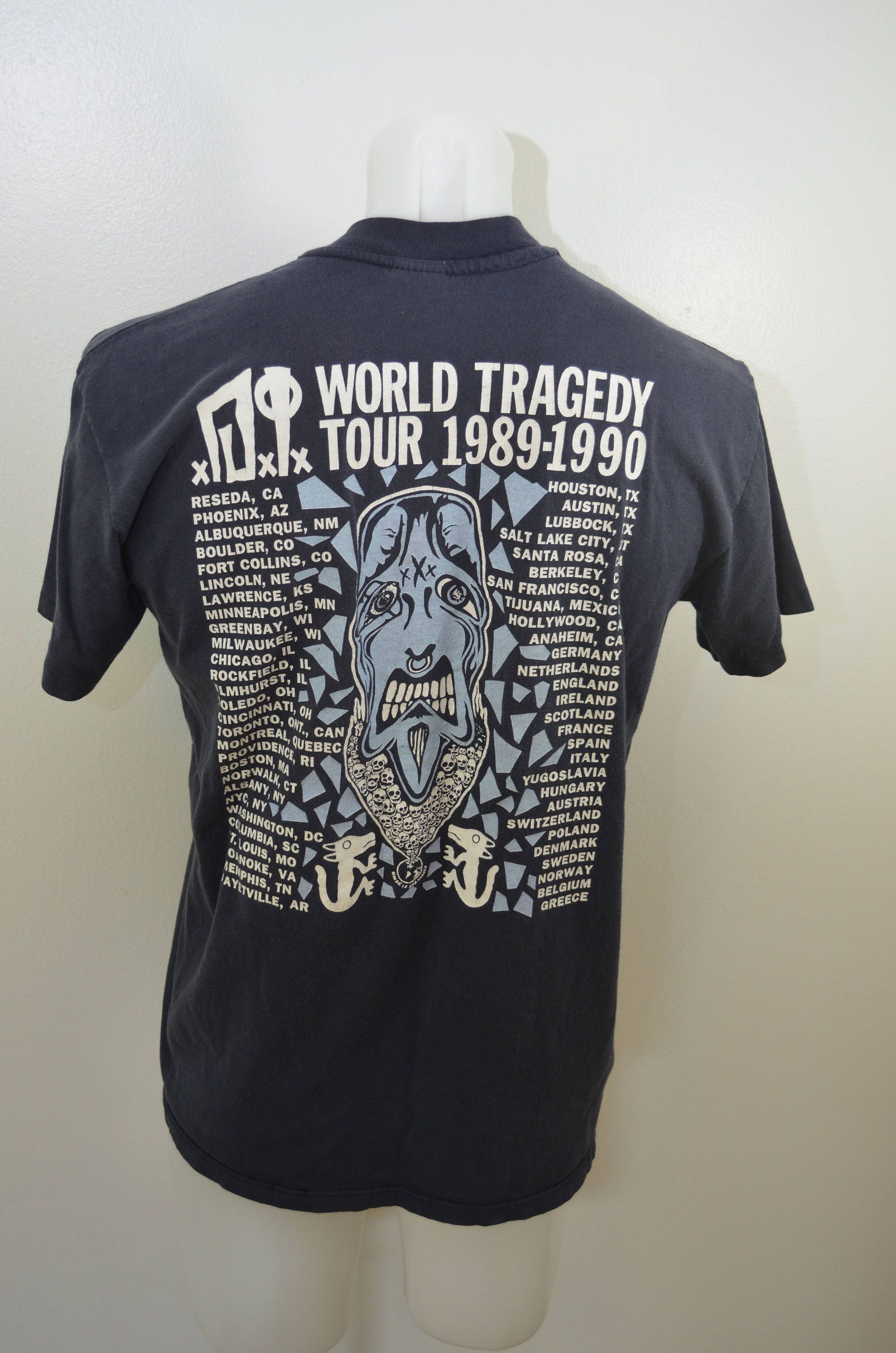 Vintage Di World Tour 1989 T Shirt Large Punk Rock Made In Usa Dxix