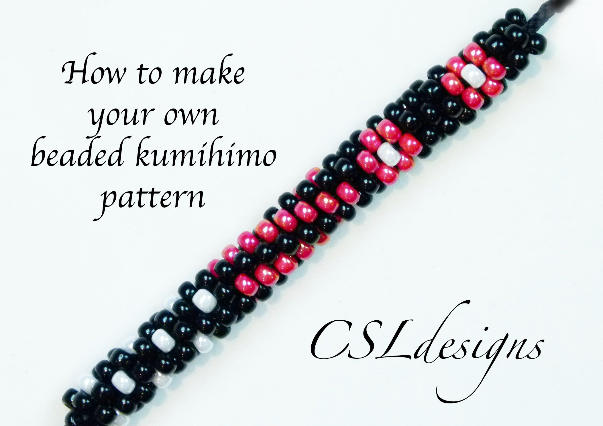 In this tutorial I show you how to make your own beaded kumihimo pattern. Please feel free to give it a go yourself and I hope you enjoy. Round kumihimo disk...