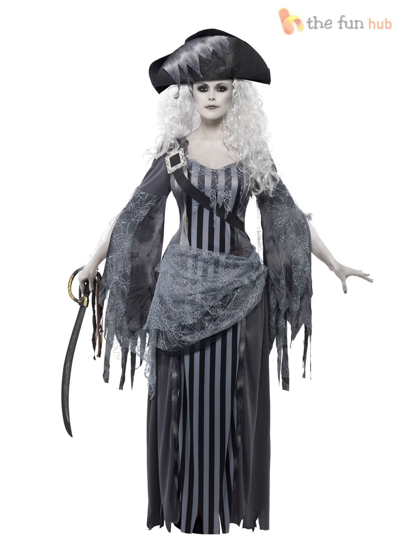 Ladies Zombie Pirate Costume Ghost Ship Womens Halloween Fancy Dress Outfit  sc 1 st  Pinterest & Ladies Zombie Pirate Costume Ghost Ship Womens Halloween Fancy Dress ...