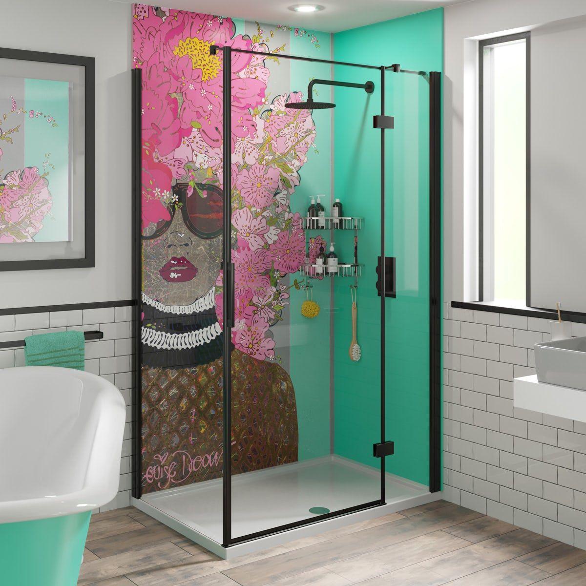louise dear kiss kiss bam bam green acrylic shower wall on shower wall panels id=71125