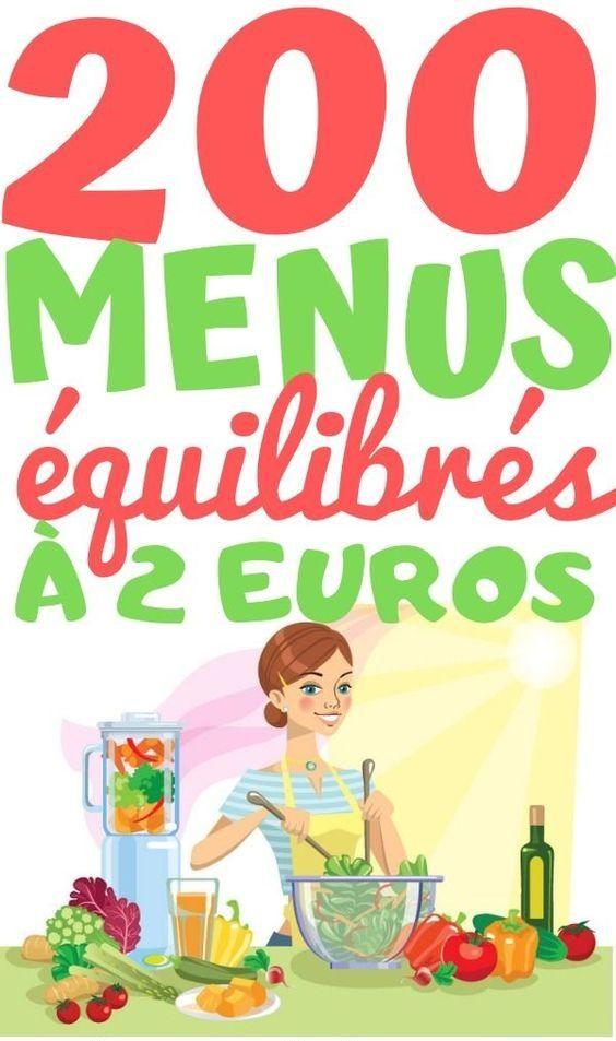 200 Menus équilibrés à 2 euros #repassainequilibré