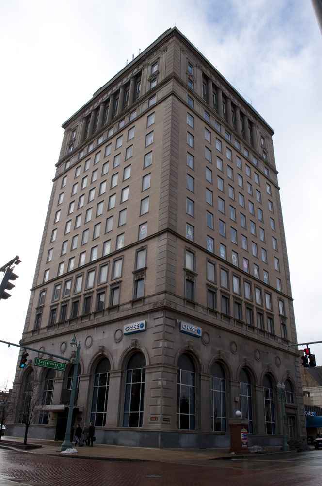 The former First National Bank Building in downtown