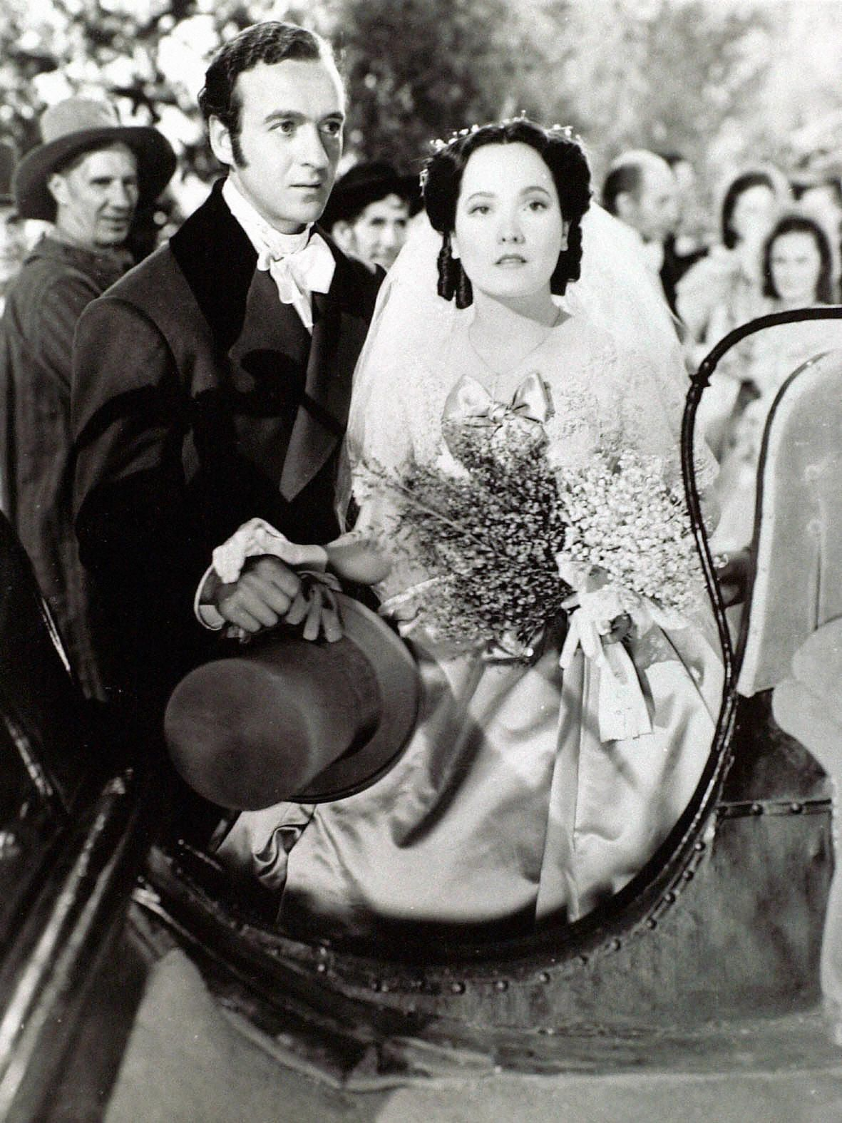 Wuthering Heights (1939) David Niven and Merle Oberon