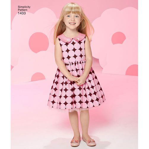 Simplicity Pattern 1433 Toddlers\' and Child\'s Project Runway Dresses ...