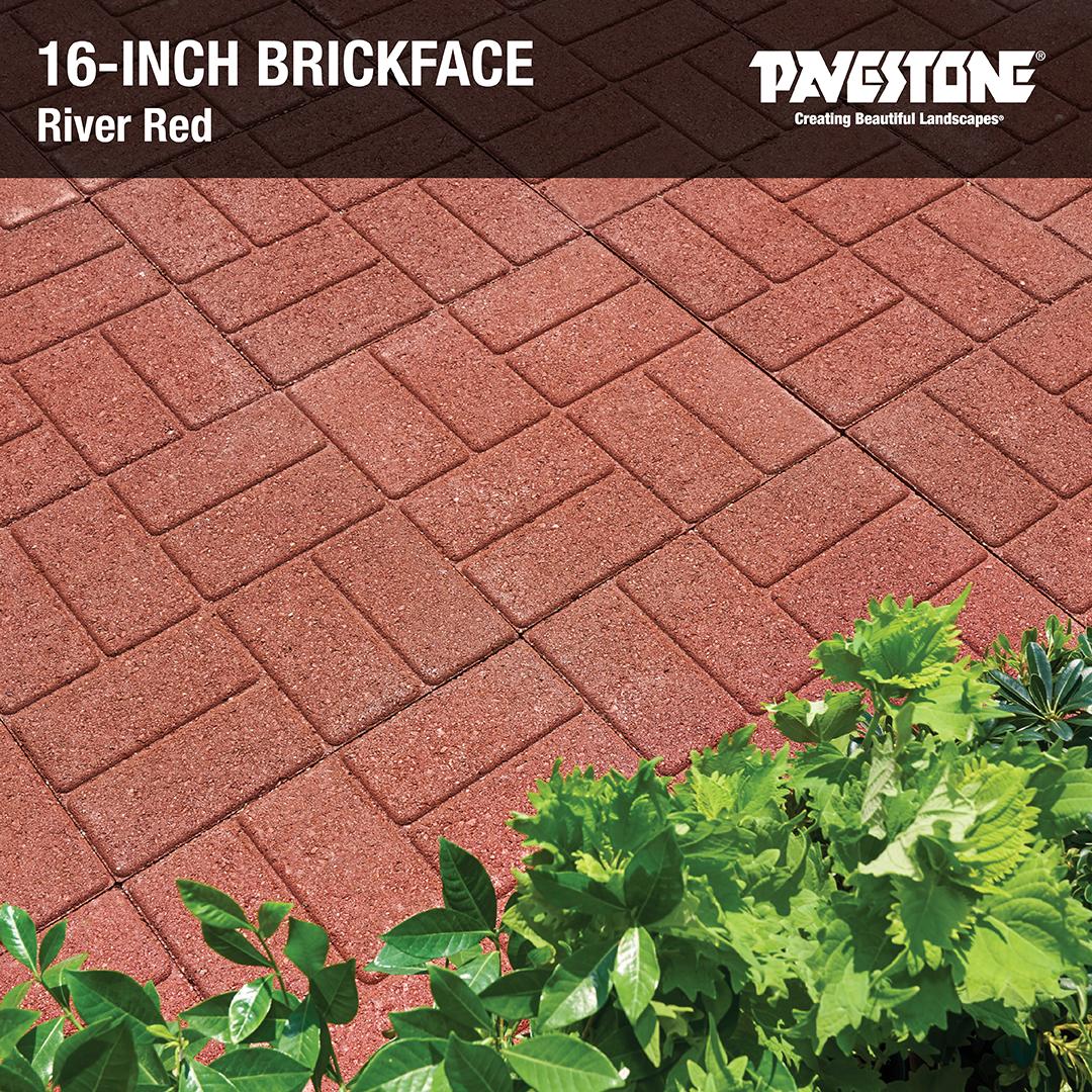 pavestone s 16 inch brickface seen