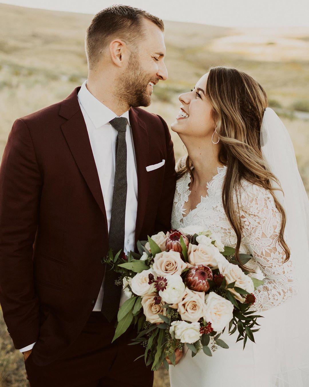Custom maroon wedding suit by hm clothing wwwhmcole