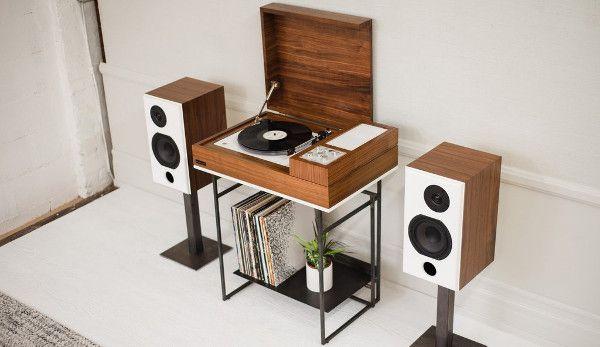 Wrensilva Loft Superbe Petite Console Hifi Neovintage Avec Platine Vinyle Et Connexion Multiroom Sonos En 2020 Meuble Vinyle Meuble Pour Platine Vinyle Meuble Hifi