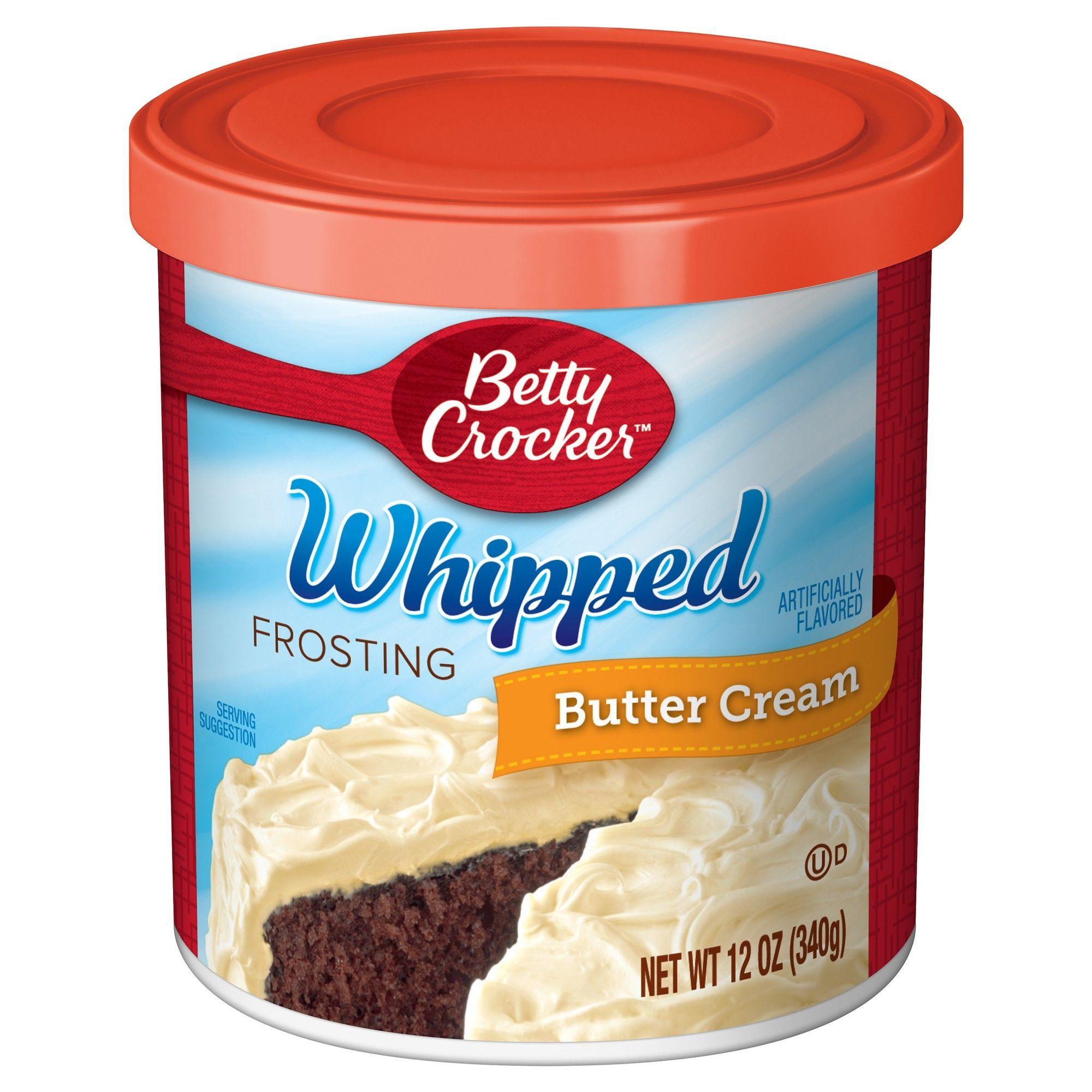Betty crocker whipped butter cream frosting 12oz