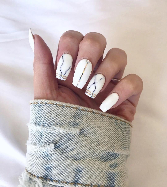 Beautiful marble affect nail art design