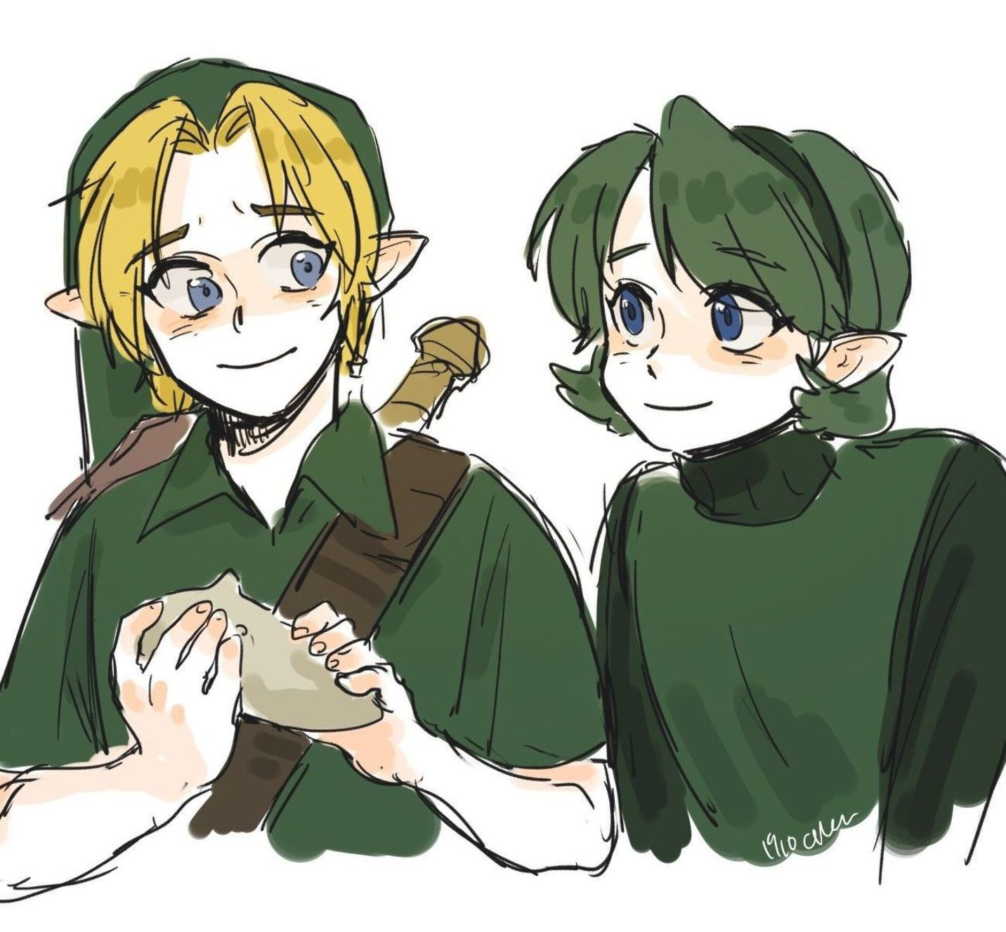 Legend Of Zelda Ocarina Of Time Art Link And Saria Sage Of Forest Kokiri Oot Himu Zelda Legend Of Zelda Ocarina Of Time Legend
