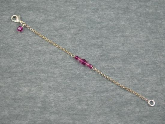 05d3a881e4d7 Pulsera de cadena con cristales de swarovski y mosquetón ...
