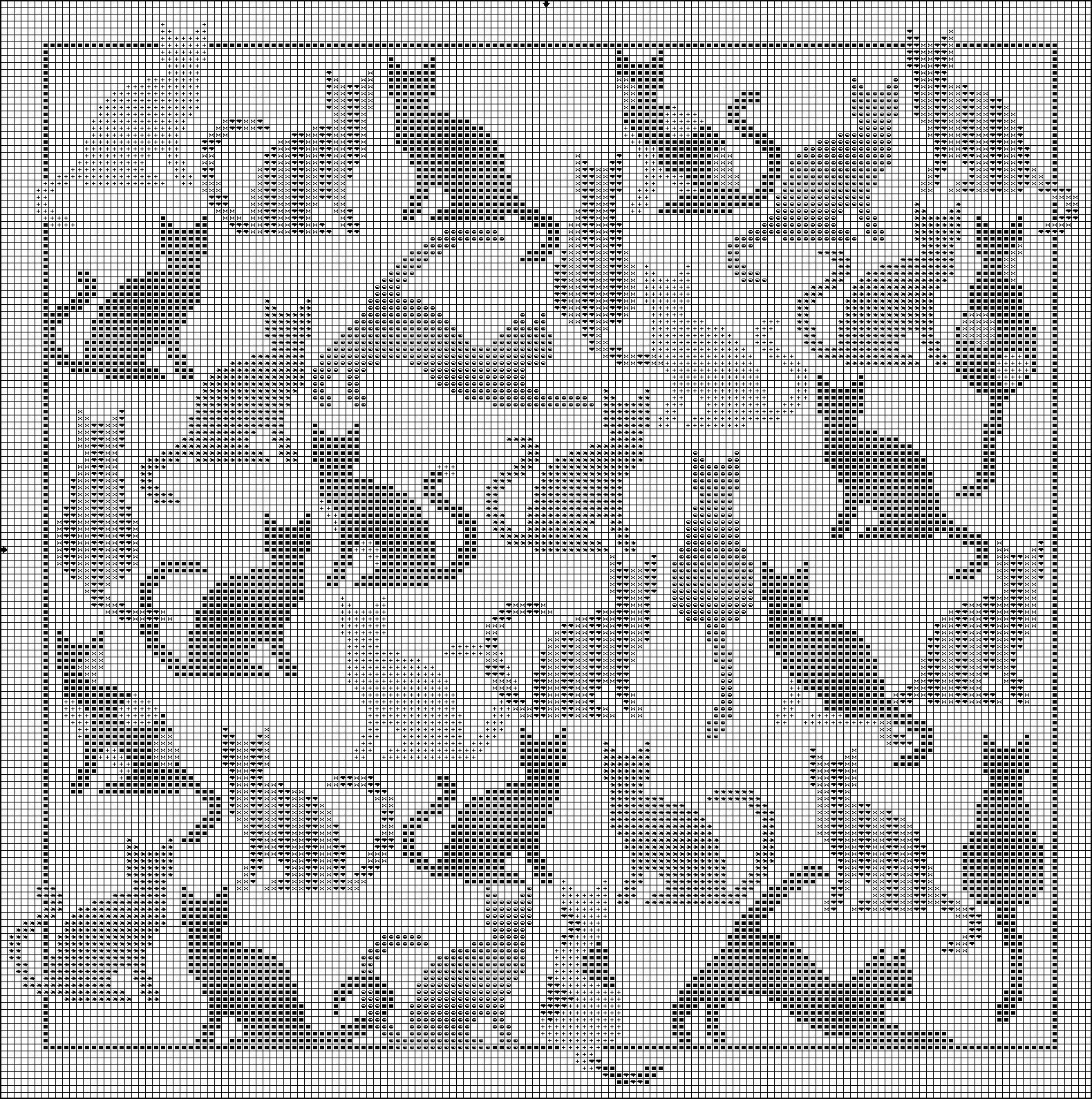 I\'m gonna use some of these guys in a filet crochet pattern ...