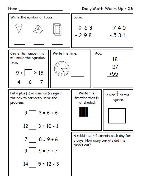 Daily Math Warm Ups For Second Grade Third Trimester Daily Math Math Spiral Review Spiral Math