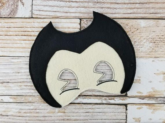 Bendy Mask - felt Bendy and the Ink Machine mask for Parties ...
