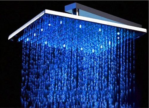 Buy Fontana 12 Brushed Bronze Shower Head Sqaure Color Changing Led Rain Shower Head Online Rain Shower Head Rain Shower Led Shower Head