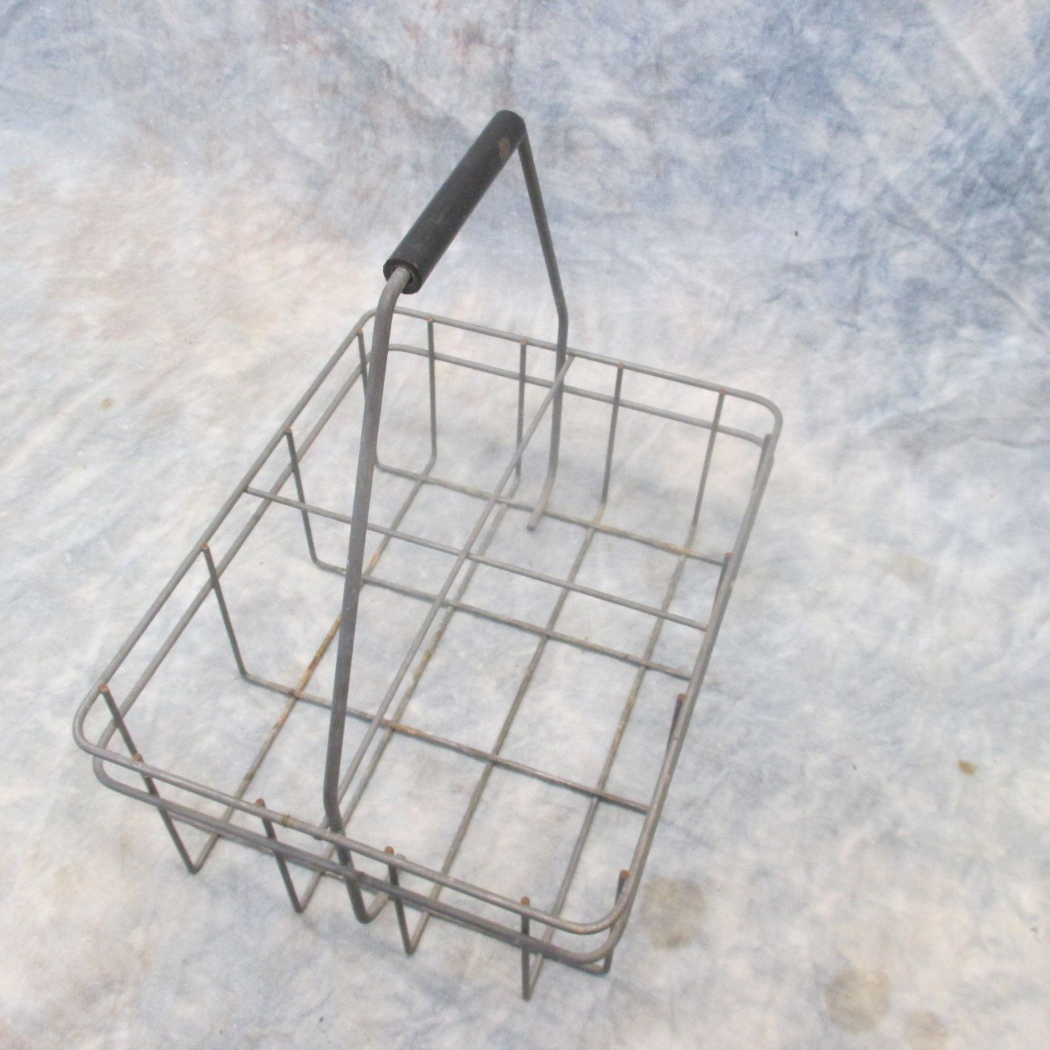 Rustic Wire Carrier, Wire Basket, Bottle Carrier, Gas Service ...