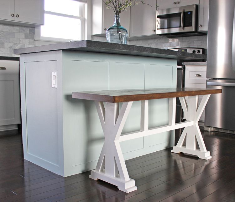 How To Build A Farmhouse Counter Height Bench For Your Kitchen